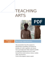 Interest Letter - Teaching Arts.