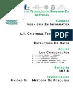 Unidad VI Metodos de Busqueda Binaria y Secuencial