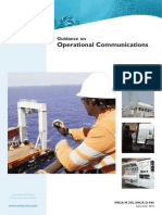 R1- IMCA M 205 D 046 Guidance on Operational Communications