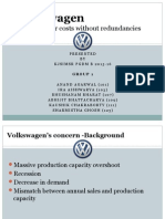 Volkswagen Firing without Hiring