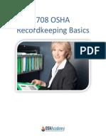 708 OSHA Recordkeeping Basics