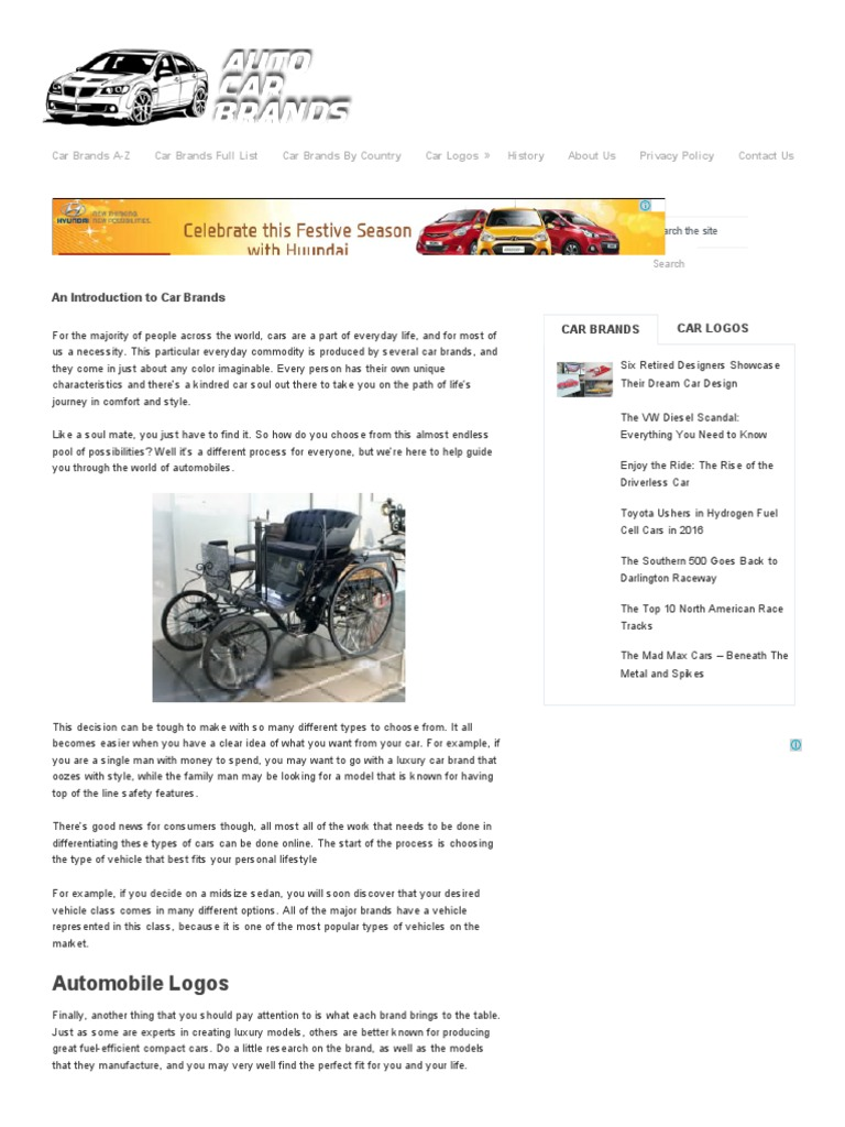 All Car Brands Auto Car Brands Ford Motor Company Car