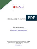 Respaper Cbse Class Xii 2013 - Mathematics