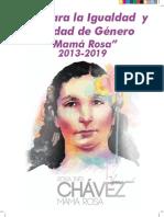 MinMujer - Publicaciones - 2014-10-07 05-12-04 - Plan Para La Igualdad y Equidad de Género &Quot;Mamá Rosa&Quot; 2013-2019