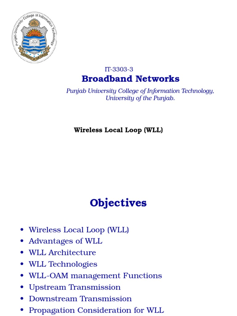 working of wireless local loop