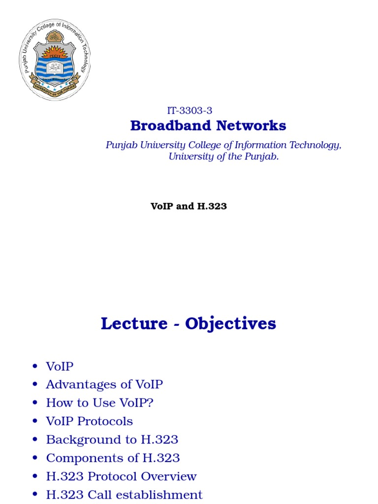 VoIP and H 323   Voice Over Ip   Network Protocols