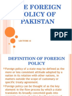 12. Pakistan Foreign Policy