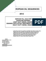 2012 ACEA Oil Sequences