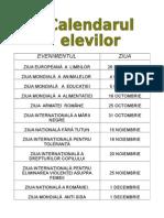 Calendar Elevi