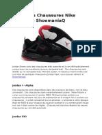 Différents Chaussures Nike Jordan de ShoemaniaQ