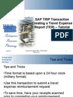 SAP Create a Travel Expense Tutorial TRIP
