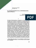 El Fundacionismo de La Epistemología Aristotélica - Cassini