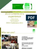 Elaine Nevin ECO-UNESCO NYCI Conference 2011