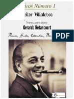 CHOROS No. 1. Heitor Villalobos; transcripción piano, Gerardo Betancourt.