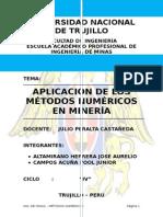 APLICACIÓN DE LOS MÉTODOS NUMÉRICOS EN LA MINERIA