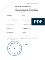 Telling Time Lesson 3 Materials