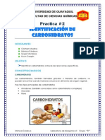 Practica 2 Lab e Bioquimica II (Identificacion de Carbohidratos)