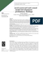 BalancBalanced scorecard and causal model development preliminary findingsed Scorecard and Causal Model Development Preliminary Findings