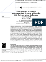Designing a strategic management system using the third-generation balanced scorecard.Designing a Strategic Management System Using the Third-generation Balanced Scorecard