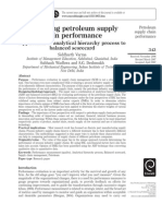 EvaluaEvaluating petroleum supply chain performance Performance Application of analytical hierarchyting Petroleum Supply Chain Performance Performance Application of Analytical Hierarchy Process