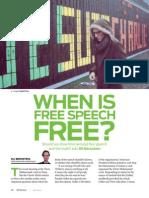 When is Free Speech Free?