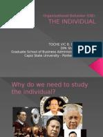 Organizational Behavior - The Invidividual