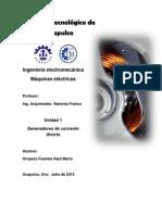 Unidad 1. Generadores de Corriente Directa PDF