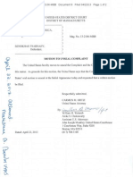 Complaint and Affidavit - United States v Dzhokhar Tsarnaev