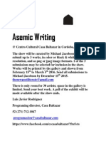 Call for Asemic Writing in Mexico