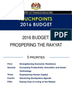 TouchPoints Bajet 2016