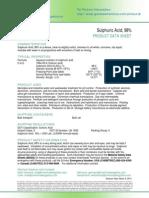 Sulfuric Acid 98 PDS