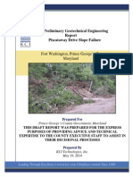 Preliminary GER Piscataway Drive Slope Failure