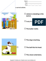 Action Verbs Choose the Right Sentence 3