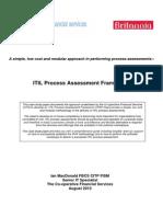 ITIL Process Assessment Framework - MacDonald