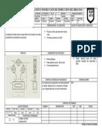 Hoja de Operación e Instrucción de Inspección Del Procesofresado