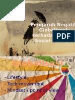 Pengaruh Negatif Globalisasi Terhadap Aspek Sosial-Budaya