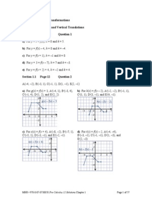 Pre Calculus 12 Solutions Chapter 3