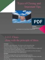 Types of Closing by Pranav