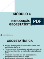 Tratamento de Dados geológico Geoestatística