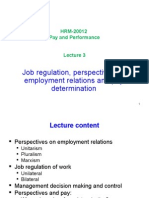 Job Regulation and Perspectives