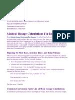 Calculating Medical Dosages