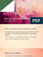 Female Genital Mutilation PPT Maternity Class (2)