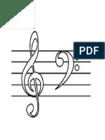 Clave de Sol e Clave de Fá para musicalização