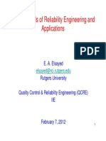 Fundamentals of Reliability Engineering - Part 1 Feb 2012