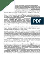 CUADRO DE DISTRIBUCIÓN DE HORAS 2016 Y PROCESO DE RACIONALIZACIÓN