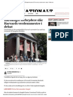 Hårdkogte Forbrydere Slår Harvards Verdensmestre i Debat - Politiken