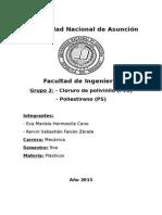 PVC y Poliestireno