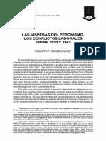 Korzeniewicz - Las Vísperas Del Peronismo Los Conflictos Laborales Entre 1930 y 1943