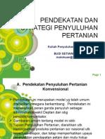 Pendekatan Dan Strategi Penyuluhan Pertanian