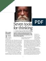 Dennett 7 Thinking Tools